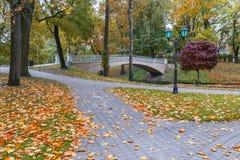 Autumn in central public park of Riga Stock Image