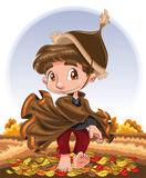 Autumn Character. Vector image - software: Illustrator Stock Photos