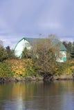 Autumn charm of Snohomish River Stock Photo