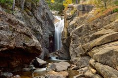Autumn at Chasm Falls. Autumn view of Chasm Falls in Rocky Mountain National Park Stock Image