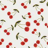 Autumn cherries pattern Royalty Free Stock Photography