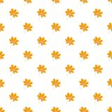 Autumn chestnut leaf pattern seamless. Repeat background for any web design stock illustration
