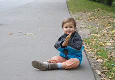 Autumn child Royalty Free Stock Photo