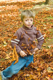 Autumn child Stock Photography