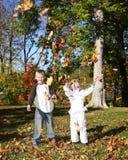 Autumn child 12 stock photo