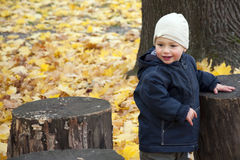 Autumn child Royalty Free Stock Photography