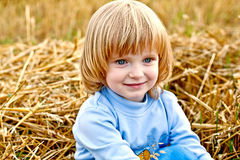 Autumn child Stock Images
