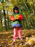 Autumn child Stock Photo