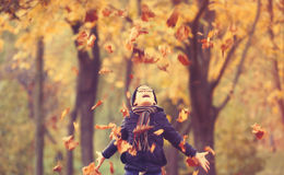 11 autumn child Arkivbilder