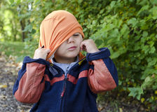 Autumn child with hat Royalty Free Stock Photography