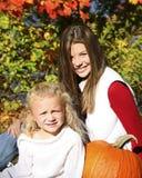 Autumn child nine Stock Images