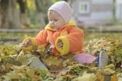 Autumn child Royalty Free Stock Images