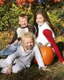 Autumn child ten Royalty Free Stock Image