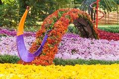 Autumn Chrysanthemum Exhibition a Kiev, Ucraina, 2016 Fotografia Stock Libera da Diritti