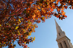 Autumn Church Stock Photo
