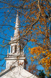 Autumn church Royalty Free Stock Photos