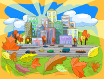 Autumn city Stock Photography
