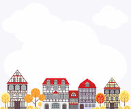 Autumn city background Royalty Free Stock Images
