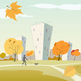 Autumn in the city Royalty Free Stock Photography