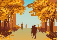 Autumn City Park Background coloré Photographie stock libre de droits
