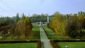 Autumn city park stock video footage