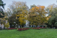 Autumn in City Park Stock Photo
