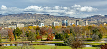 Autumn in the City of trees Boise Idaho Royalty Free Stock Photography