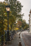 Autumn cityscape in the ancient town. Quiet autumn in the historic center of Utrecht, Netherlands Royalty Free Stock Photography