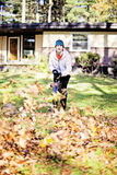 Autumn yard work Royalty Free Stock Photo