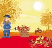 Autumn cleanup Royalty Free Stock Photo