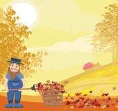 Autumn cleanup Royalty Free Stock Image