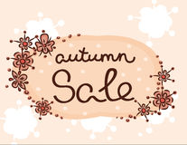 Autumn clearance sale pattern floral print Stock Image