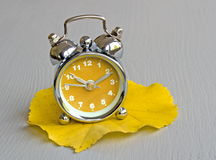 Autumn clock Royalty Free Stock Images