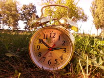 Autumn Clock Stock Photography