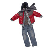 Autumn clothes for boy Royalty Free Stock Image