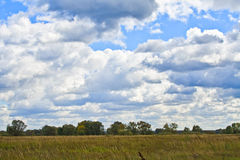 Autumn clouds stock photography