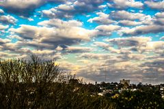 Autumn Clouds. Autumn fantasy in the sky Stock Photo