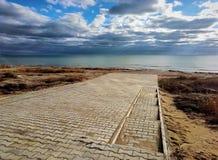 Autumn coast of the Caspian Sea stock photos