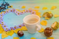 Autumn coffee background Stock Image