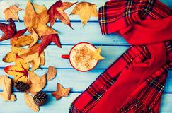 Autumn Coffee cup Stock Image
