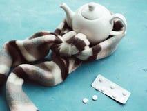 Cold and flu treatment illness healthcare concept Stock Photos