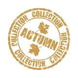 Autumn collection rubber stamp isolated on white background Stock Image