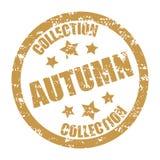 Autumn collection rubber stamp season discount Royalty Free Stock Photos
