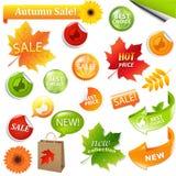 Autumn Collection Sale Elements stock illustration