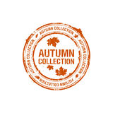 Autumn collection stamp Royalty Free Stock Photos