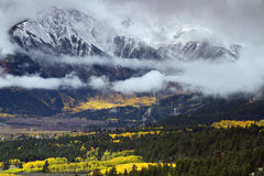Autumn at the Collegiate Peaks near Twin Lakes in central Colora Royalty Free Stock Photos