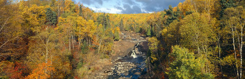 Autumn color along Beaver River Stock Photography