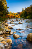 Autumn color along the Swift River, along the Kancamagus Highway Royalty Free Stock Photo