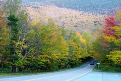 Autumn color change in Stowe, Vermont Royalty Free Stock Photography