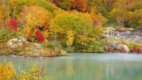 Autumn color of the foliage at the Jigokunuma Pond